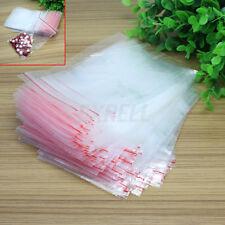 100x Buste Sacchetti Plastica Chiusura a Pressione Confezione Trasparente 9x13CM