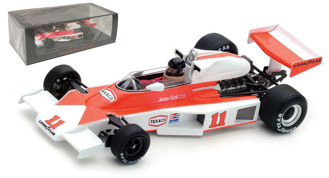 Spark S4362 McLaren M23 Winner French GP 1976 - James Hunt 1 43 Scale