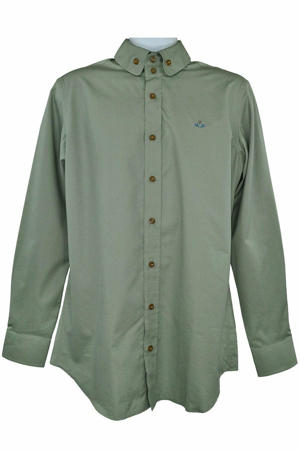 76a72193 Vivienne Westwood Green long sleeve size 40 RRP195 PU202 shirt ...