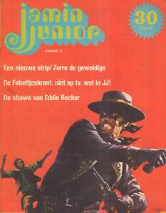 MAGAZINE-JAMIN-JUNIOR-1972-nr-15-ZORRO-COVER-EDDY-BECKER-TOM-OKKER-FLORIS