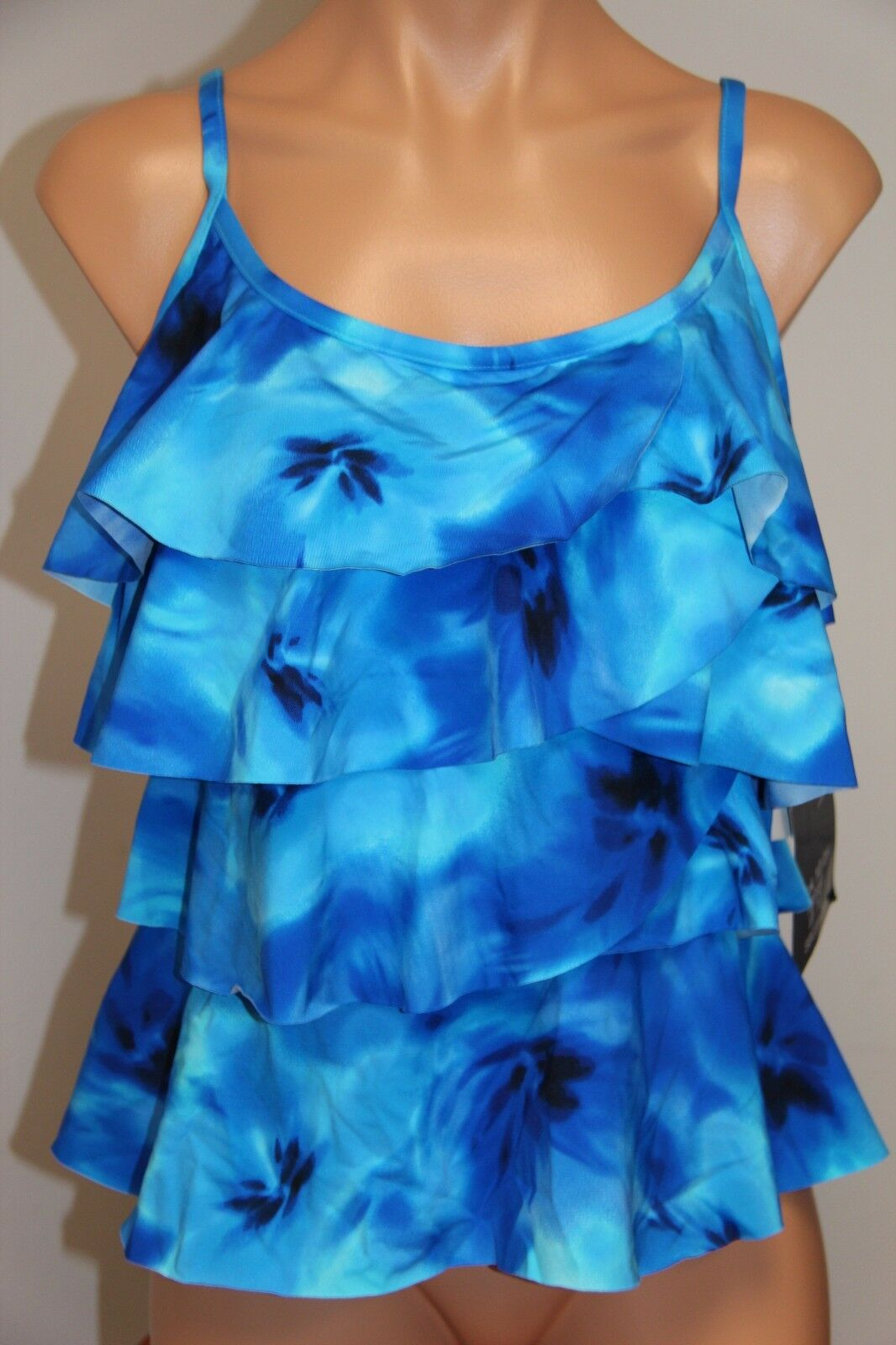 New  Miraclesuit Swimsuit Swimsuit Swimsuit Bikini Tankini Top sz 8 Ocean Dream Tiering UP fa3bf9