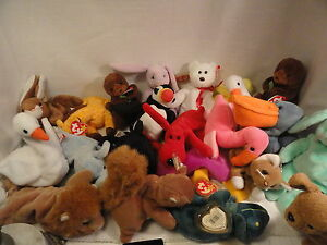 53-Ty-Beanie-Babies-With-Tags-Plush-Boys-Girls
