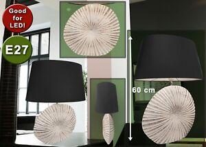 Tischlampe Design Keramik silber weiß groß Wohnzimmer Tischleuchte E27 für LED