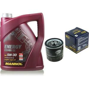 Set-5-L-MANNOL-energia-LL-Combi-5W-30-servicio-filtro-de-aceite-SCT-10164326-de-cambio-de-aceite