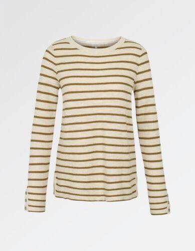 da Bnwt Bella Face cotone donna sabbia 100 Marrone Stripe Fat Maglia BxUSnwqBg