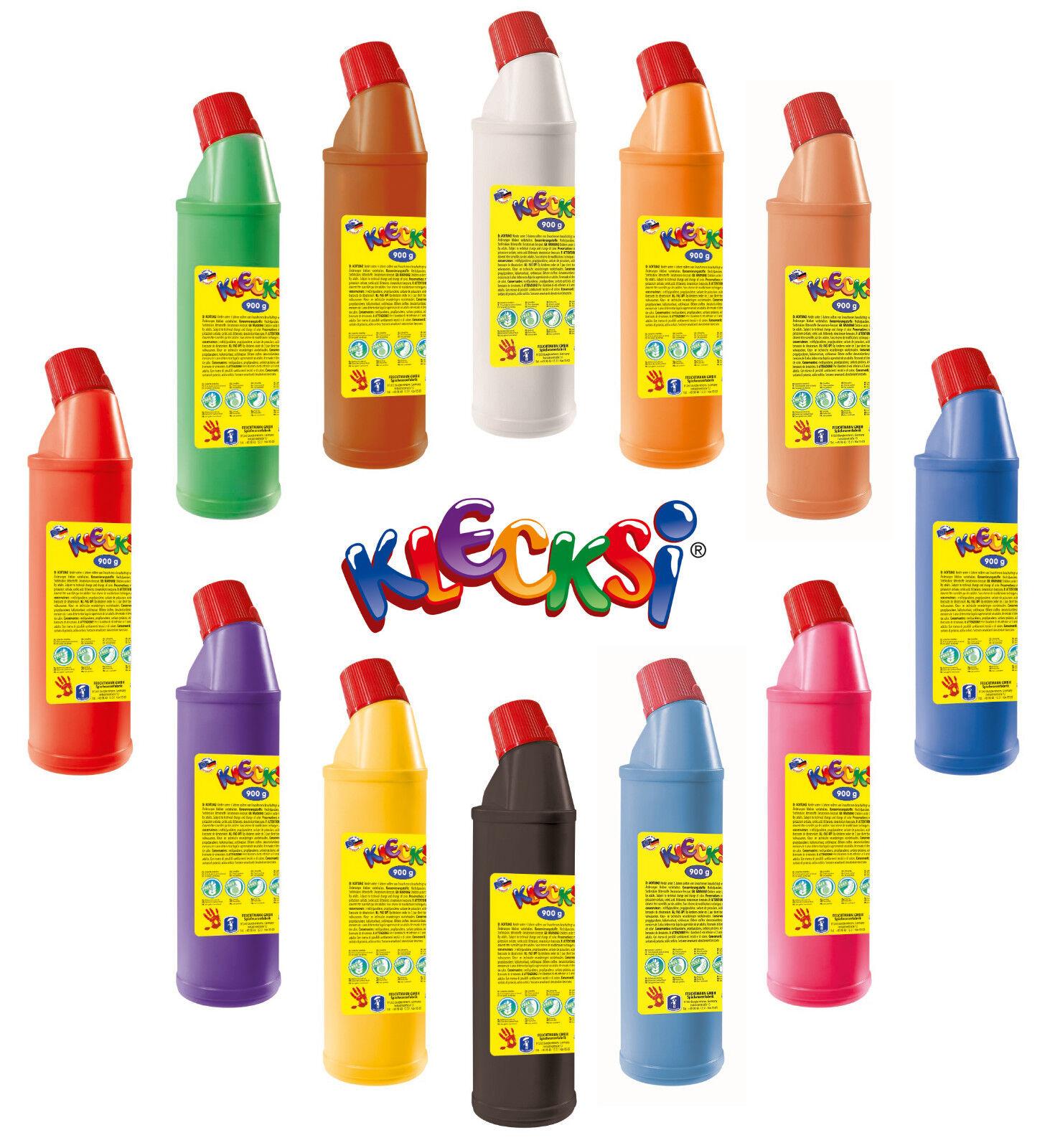 12 x 900g. KLECKSI Fingerfarben Malfarben - Farben frei wählbar - (  1kg)