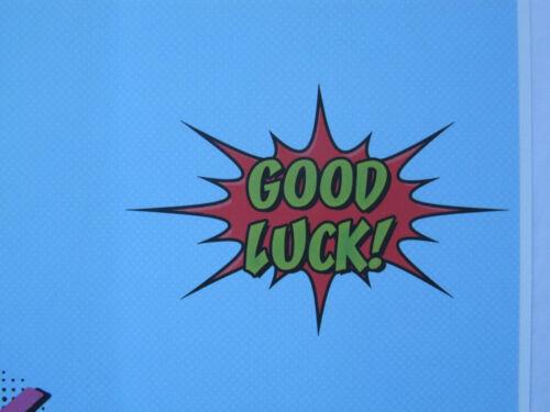 Fantastique Coloré Bonne Chance Avec Vos Examens Bonne chance Carte de vœux