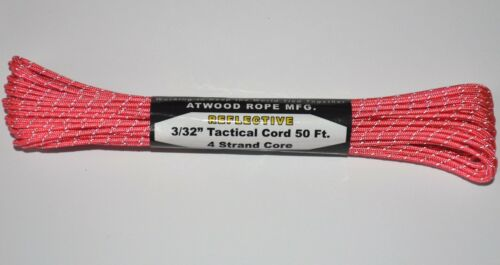"""made in USA environ 124.74 kg 3//32/"""" Reflective Tactical Cord 4 Strand Paracord Test 275 Lb"""