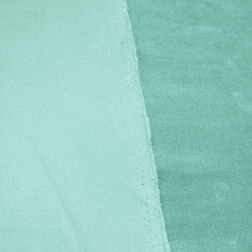 Mf58n turquoise clair microfibre velours forme ronde Housse de Coussin Taille personnalisée