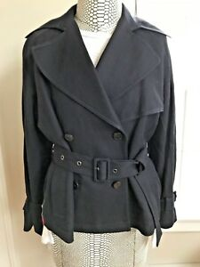 NWT $545 VINCE Womens Double Breasted Belted Cropped Trench Coat - Size Small