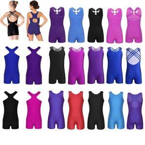 Girls-Tank-Ballet-Leotards-Dancewear-Sleeveless-Gymnastics-Dance-Costumes-4-14Y