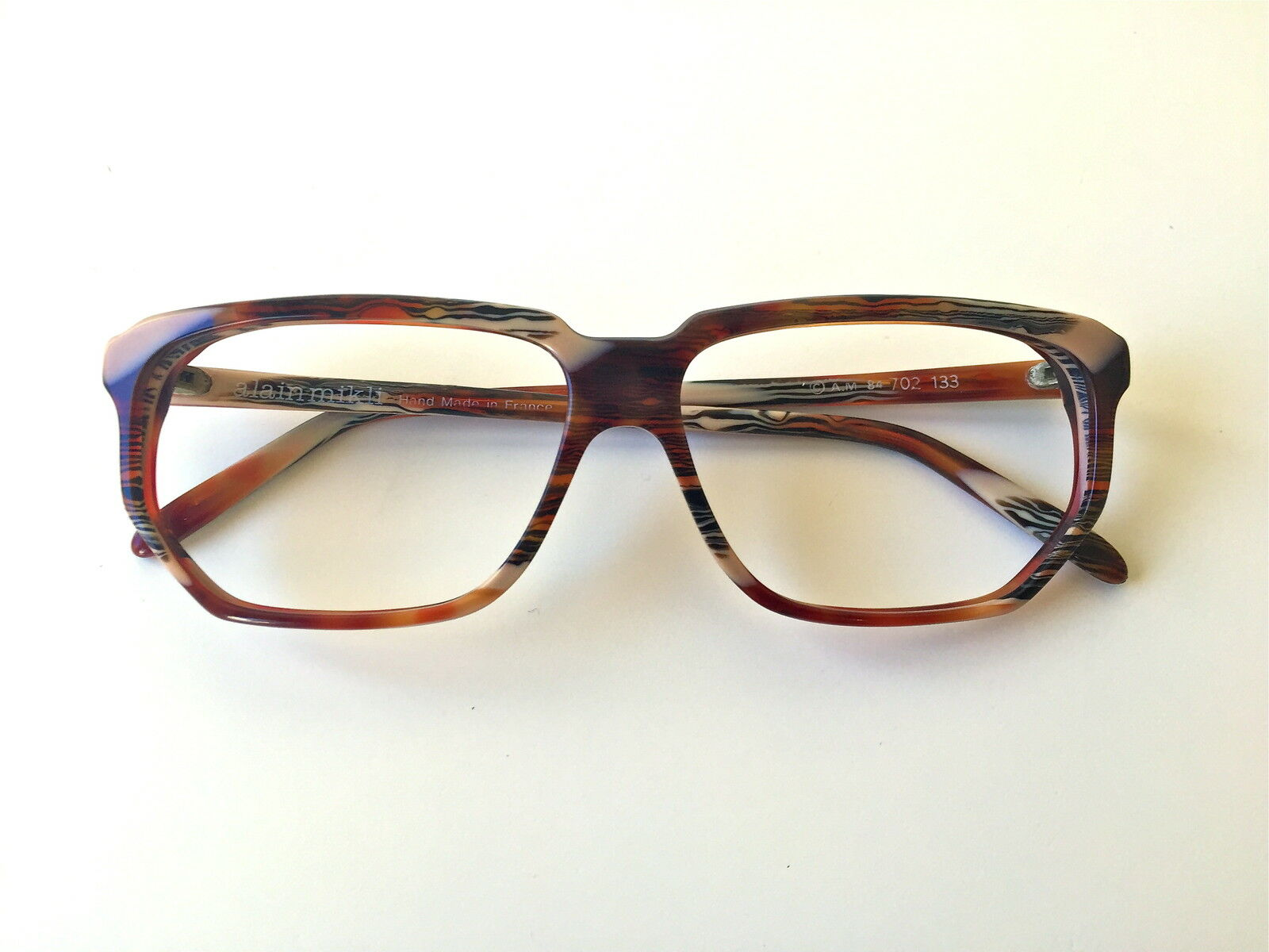Vintage ALAIN MIKLI 702 multicolourot multicolourot multicolourot NOS France rare glasses hand made | Haltbarer Service