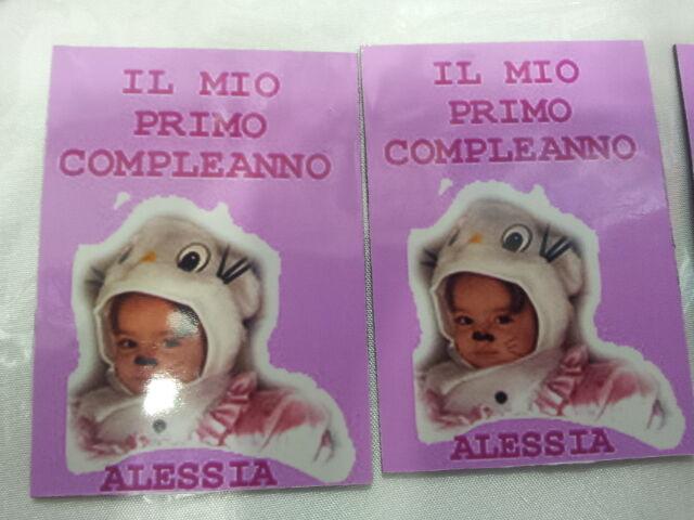 80 calamite 5x7cm  regalini feste bambini personalizzate con tua foto e frase