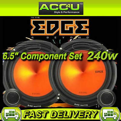 "Edge ED306 6 6.5"" 240w Car Door Component Speakers Set"