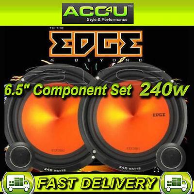 """Edge ED306 6 6.5"""" 240w Car Door Component Speakers Set"""