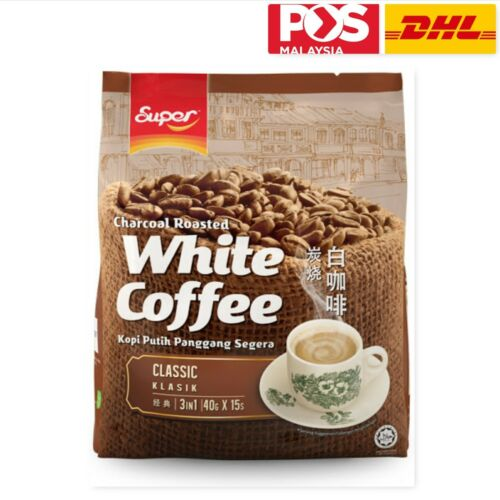 600G SUPER CHARCOAL ROASTED WHITE COFFEE CLASSIC 3 IN 1 15 X 40G