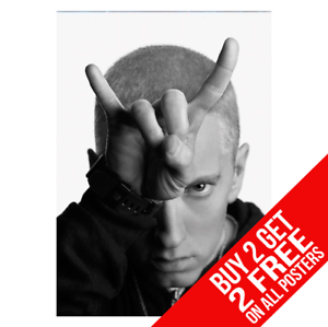 BUY 2 GET ANY 2 FREE EMINEM POSTER A4 A3 SIZE BB1 PRINT