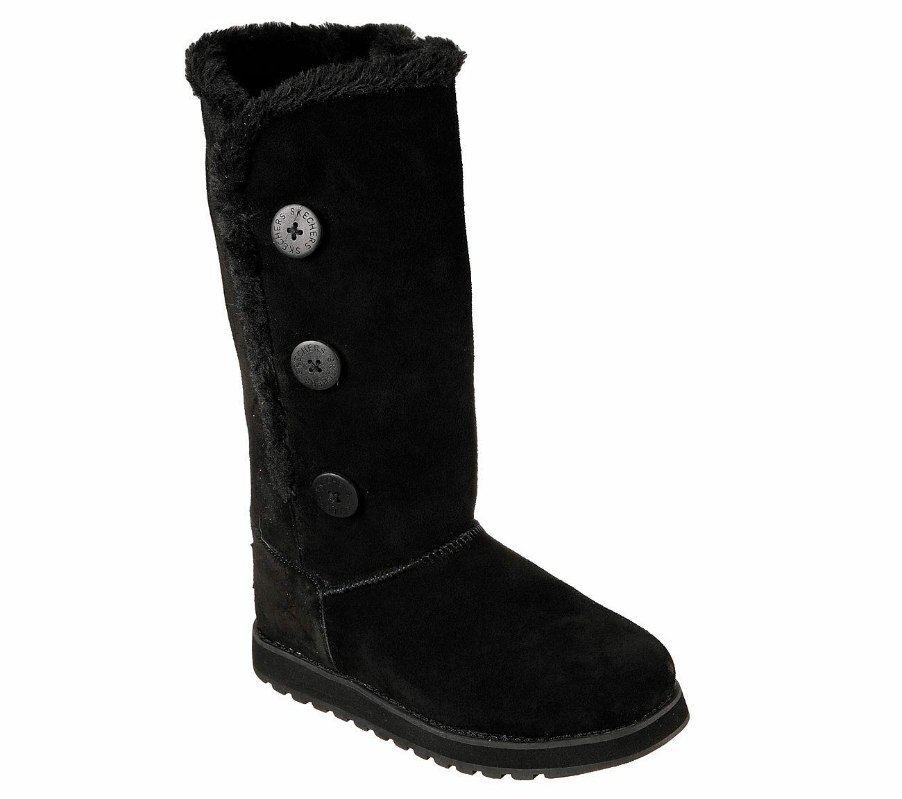 Skechers Keepsakes Winter Solstice Boots Memory Foam Tall Mid Calf Suede Womens