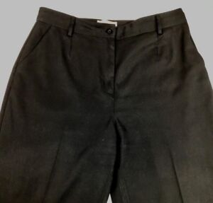 Talbots Womens Petites Size 10 Black Pants W28l27 Straight Leg