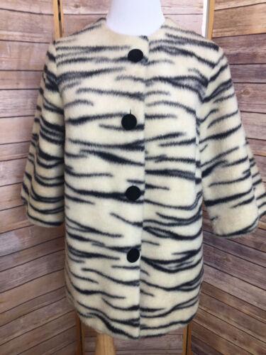 Vintage Loungees Jr Zebra Print Faux Fur Lined Coa