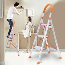 Non Slip 3 Step Aluminum Ladder Folding Platform Stool 330 Lbs Load Capacity New