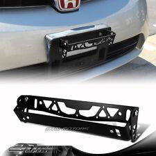 JDM Black Brushed Aluminum Front Adjustable Tilt License Plate Bracket Universal