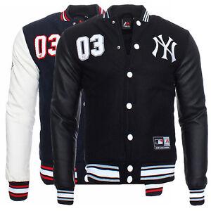 Majestic Yankees Senger Letterman Men&amp039s College Jacket