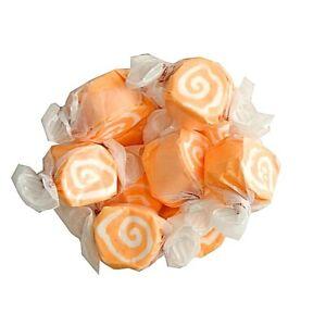 GOURMET ORANGE CREAM Salt Water Taffy Candy TAFFY TOWN 1/4 LB  to 10 LB BAG