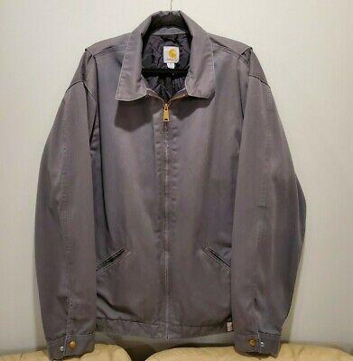Carhartt Grey XL Tall Quilt Lined Work Jacket Coat J293 ...
