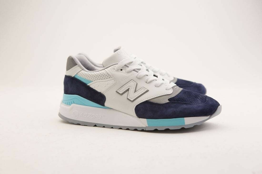 M998WTP New Balance Uomo 998 998 998 Winter Peaks M998WTP - Made In USA bianca navy aqua 4ccf60