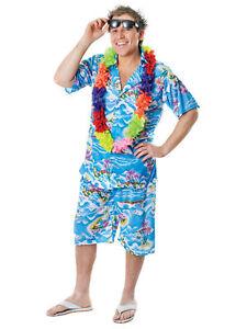 Mens hawaiian costume stag retro beach luau tropical aloha fancy image is loading mens hawaiian costume stag retro beach luau tropical solutioingenieria Choice Image