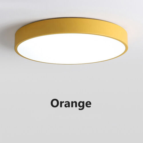 """9-24/"""" 3 Color Changing LED Flush Mount Ceiling Light Fixture Ultra Thin 12-48W"""