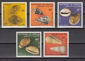 // Djibouti, Scott cat. 603-607. Sea Shells issue.