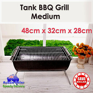 Charcoal-BBQ-Grill-Portable-Outdoor-Barbecue-Camping-Stainless-Steel-Barrel
