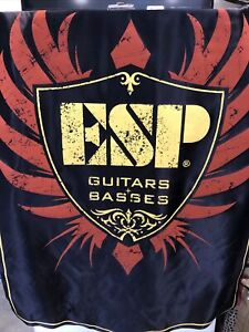 """ESP Guitar And Bass Fabric Banner Approximately 34"""" x 53"""""""