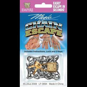 ESCAPE SHACKLES LOCKS KEYS WEB /& PAPER INSTRUCTIONS HANDCUFF HOUDINI MAGIC TRICK