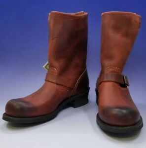 174a060521a53 NIB Frye Boots Women's Burnt Red Engineer 12R Mid Calf Boots 77400 ...