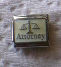 """ATTORNEY WITH SCALE OF JUSTICE""-  ITALIAN 9MM CHARM-LAW, COURT, DEFEND"