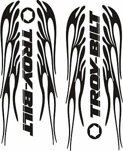 TROYBILT FLAMES VINYL DECALS STICKERS BLACK   X - Custom vinyl stickers 1 x 2