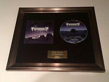 PERSONALLY SIGNED/AUTOGRAPHED PAPA ROACH - F.E.A.R FRAMED CD PRESENTATION. RARE