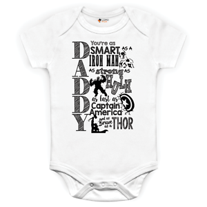 Baby-Grows-0-3-3-6-Months-Marvel-Comics-Daddy-Baby-Suit-Iron-Man-Hulk-Captain