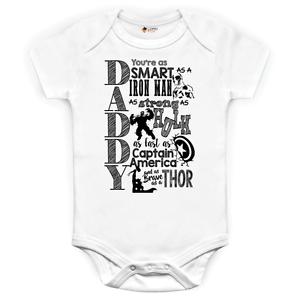 Marvel Comics Daddy Strampelanzug Baby Anzug Iron Man Hulk Captain America Thor
