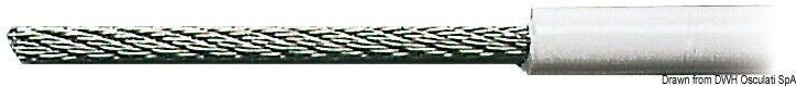 Kabel Edelstahl 19 Stränge Ummantelt PVC 4 X 8 mm Marken Osculati 03.181.07