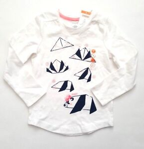 NWT-Gymboree-POLAR-PINK-Sz-4-Origami-Panda-Bear-Long-Sleeve-Top-Shirt-Girls-Blue