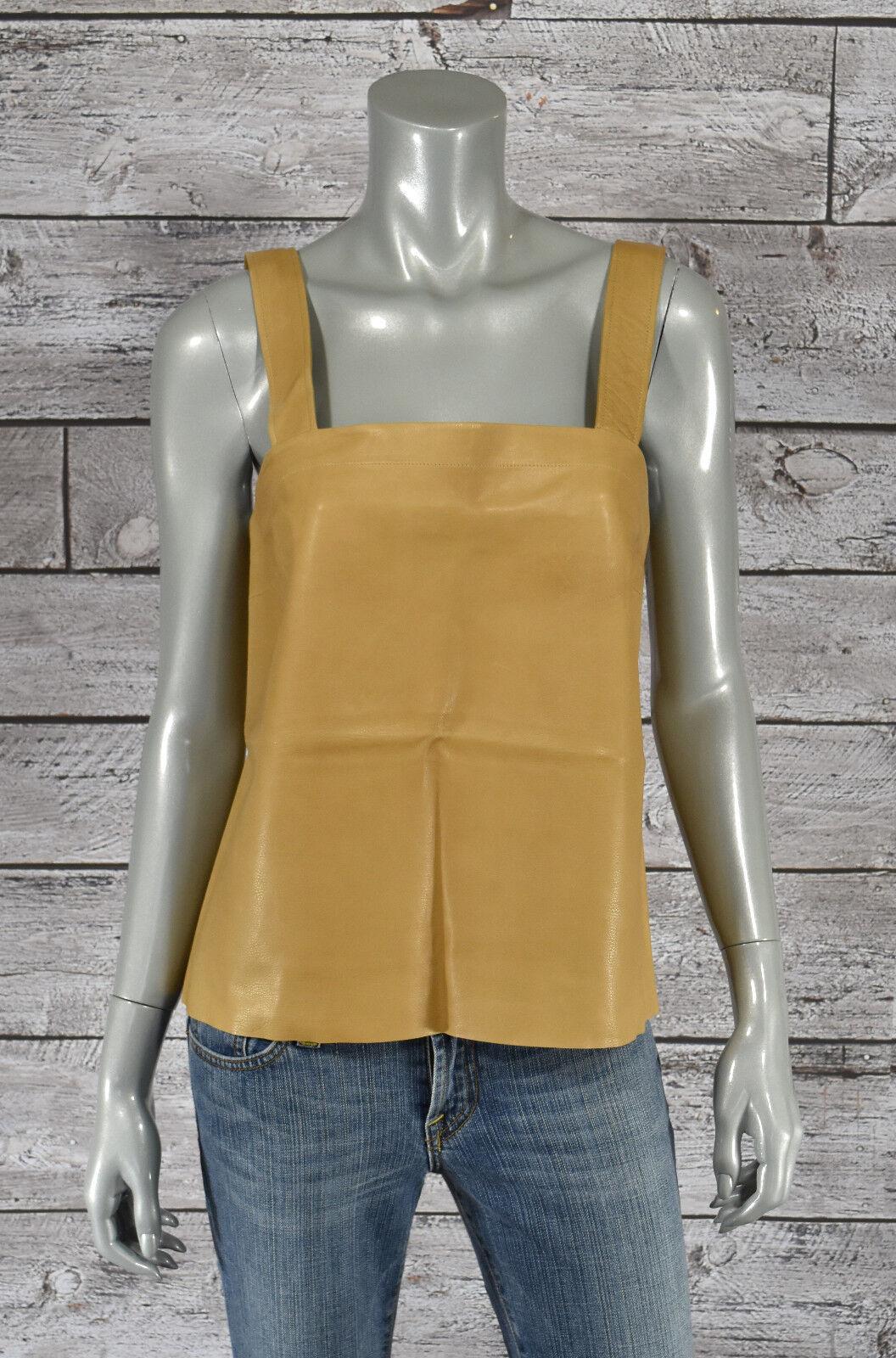 Ralph Lauren Lila Label Leder Ärmelloses Top Shirt Neu