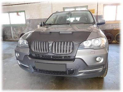 CUSTOM CAR HOOD BRA BMW X5 E70 X6 E71 2006 2013 NOSE FRONT MASK
