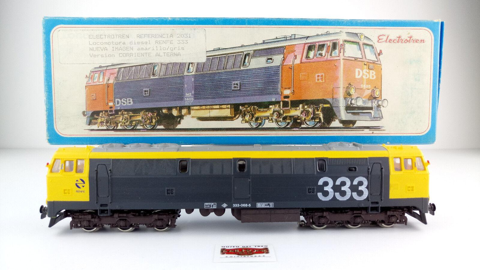 Electredren H0 2031 - Diesel Locomotive Renfe 333 - Ac - DCC - New - Ovp