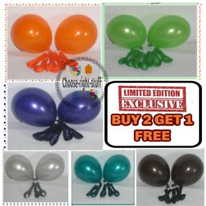 25-X-Latex-10-034-PEARL-Metallic-BALLOONS-BALLONS-helium-BALOONS-Birthday-Wedding