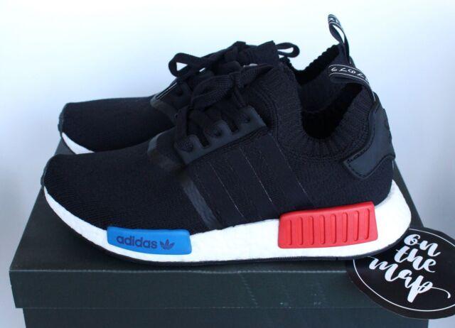 Adidas NMD OG Runner PK Primeknit schwarz rot blau s79168 5 6 7 10 11 12 NEU