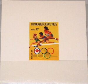Burkina Faso Afrika Upper Volta Obervolta 1976 619 392 Deluxe Olympia Montreal Hürdenlauf Hurdling